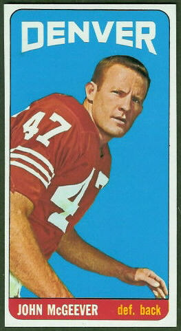 John McGeever 1965 Topps football card