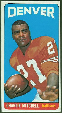 Charlie Mitchell 1965 Topps football card