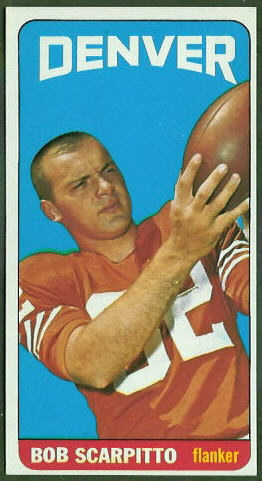 Bob Scarpitto 1965 Topps football card