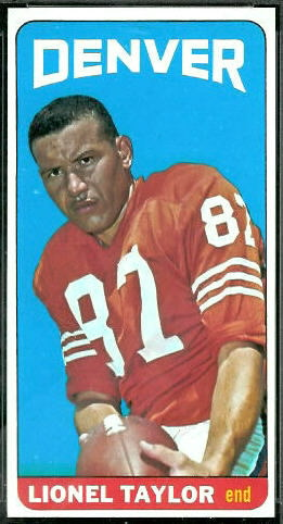 Lionel Taylor 1965 Topps football card