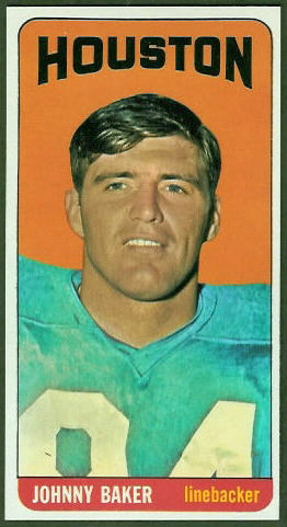 Johnny Baker 1965 Topps football card