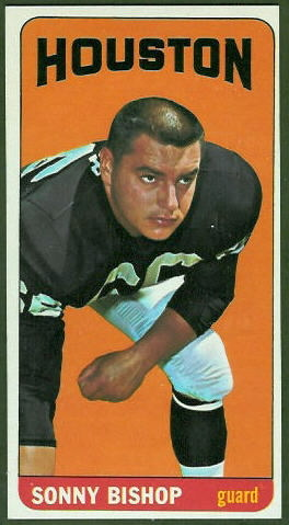 Sonny Bishop 1965 Topps football card