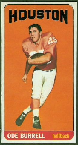 Ode Burrell 1965 Topps football card