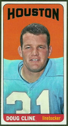 Doug Cline 1965 Topps football card