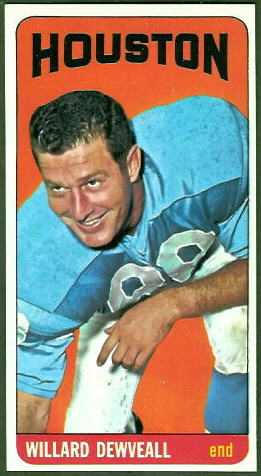 Willard Dewveall 1965 Topps football card