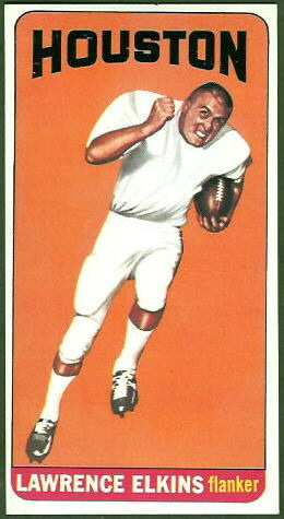 Larry Elkins 1965 Topps football card