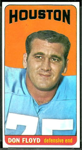 Don Floyd 1965 Topps football card