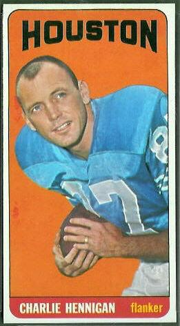 Charlie Hennigan 1965 Topps football card