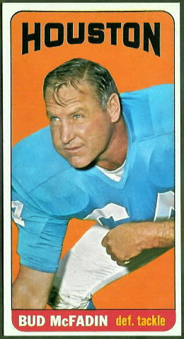 Bud McFadin 1965 Topps football card