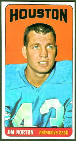 Jim Norton 1965 Topps football card