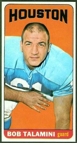 Bob Talamini 1965 Topps football card