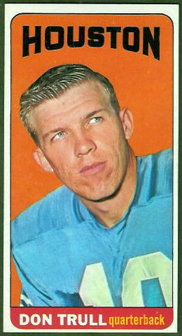 Don Trull 1965 Topps football card