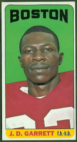 J.D. Garrett 1965 Topps football card