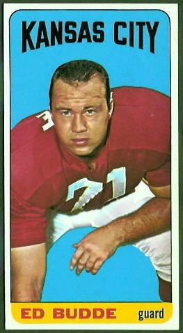 Ed Budde 1965 Topps football card