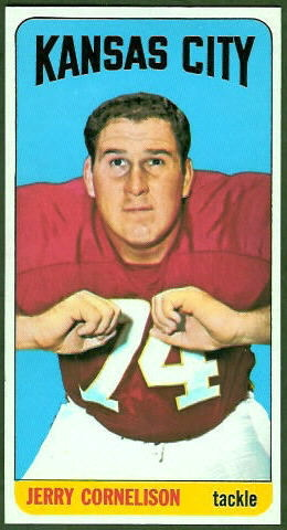 Jerry Cornelison 1965 Topps football card