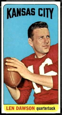 Len Dawson 1965 Topps football card