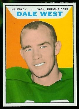 Dale West 1965 Topps CFL football card
