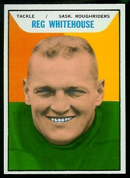 Reg Whitehouse 1965 Topps CFL football card