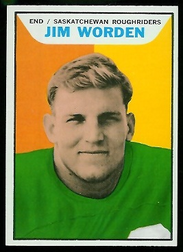 Jim Worden 1965 Topps CFL football card