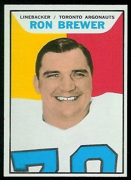 Ron Brewer 1965 Topps CFL football card