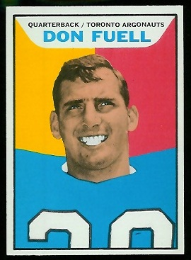 Don Fuell 1965 Topps CFL football card