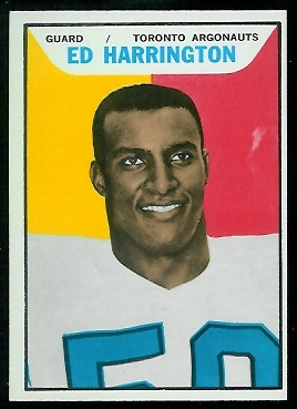 Ed Harrington 1965 Topps CFL football card