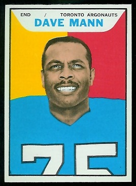 Dave Mann 1965 Topps CFL football card