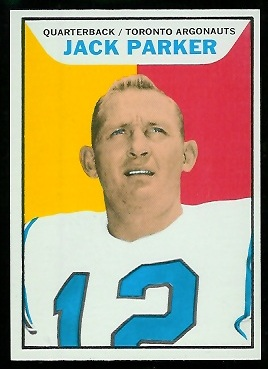 Jackie Parker 1965 Topps CFL football card