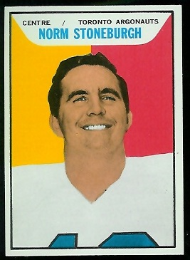 Norm Stoneburgh 1965 Topps CFL football card
