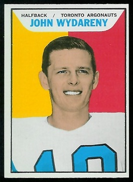 John Wydareny 1965 Topps CFL football card