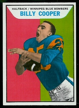 Billy Cooper 1965 Topps CFL football card