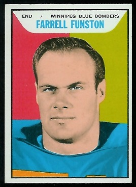 Farrell Funston 1965 Topps CFL football card