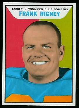Frank Rigney 1965 Topps CFL football card