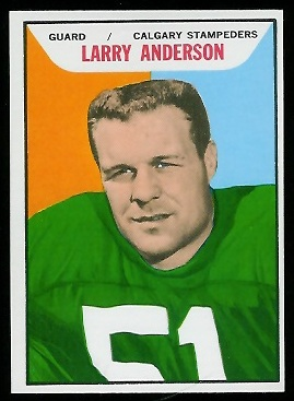 Larry Anderson 1965 Topps CFL football card