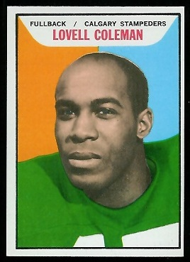 Lovell Coleman 1965 Topps CFL football card