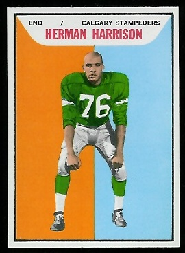 Herman Harrison 1965 Topps CFL football card