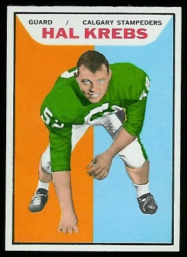Hal Krebs 1965 Topps CFL football card