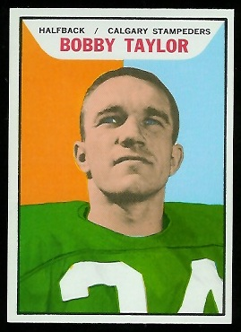 Bobby Taylor 1965 Topps CFL football card