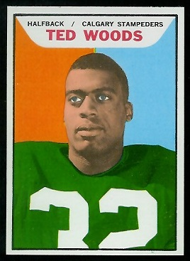 Ted Woods 1965 Topps CFL football card