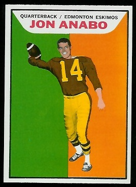 Jon Anabo 1965 Topps CFL football card
