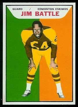 Jim Battle 1965 Topps CFL football card