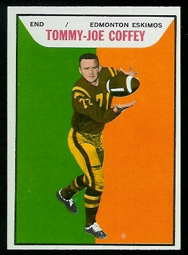Tommy Joe Coffey 1965 Topps CFL football card