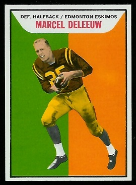 Marcel Deleeuw 1965 Topps CFL football card