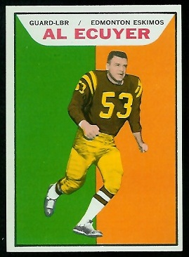 Al Ecuyer 1965 Topps CFL football card