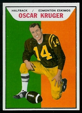 Oscar Kruger 1965 Topps CFL football card