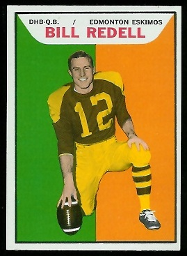 Bill Redell 1965 Topps CFL football card