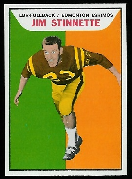 Jim Stinnette 1965 Topps CFL football card