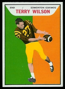 Terry Wilson 1965 Topps CFL football card