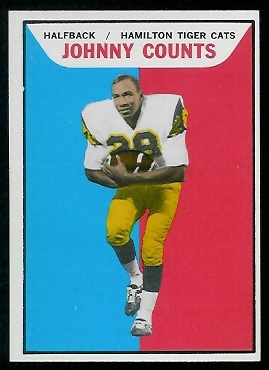 Johnny Counts 1965 Topps CFL football card