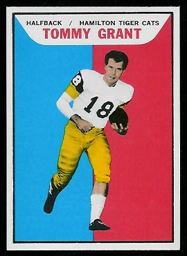 Tommy Grant 1965 Topps CFL football card
